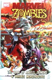 Marvel Zombies Book of Angels & Demons Dynamic Forces Signed Land DF COA Ltd 20 Marvel comic book